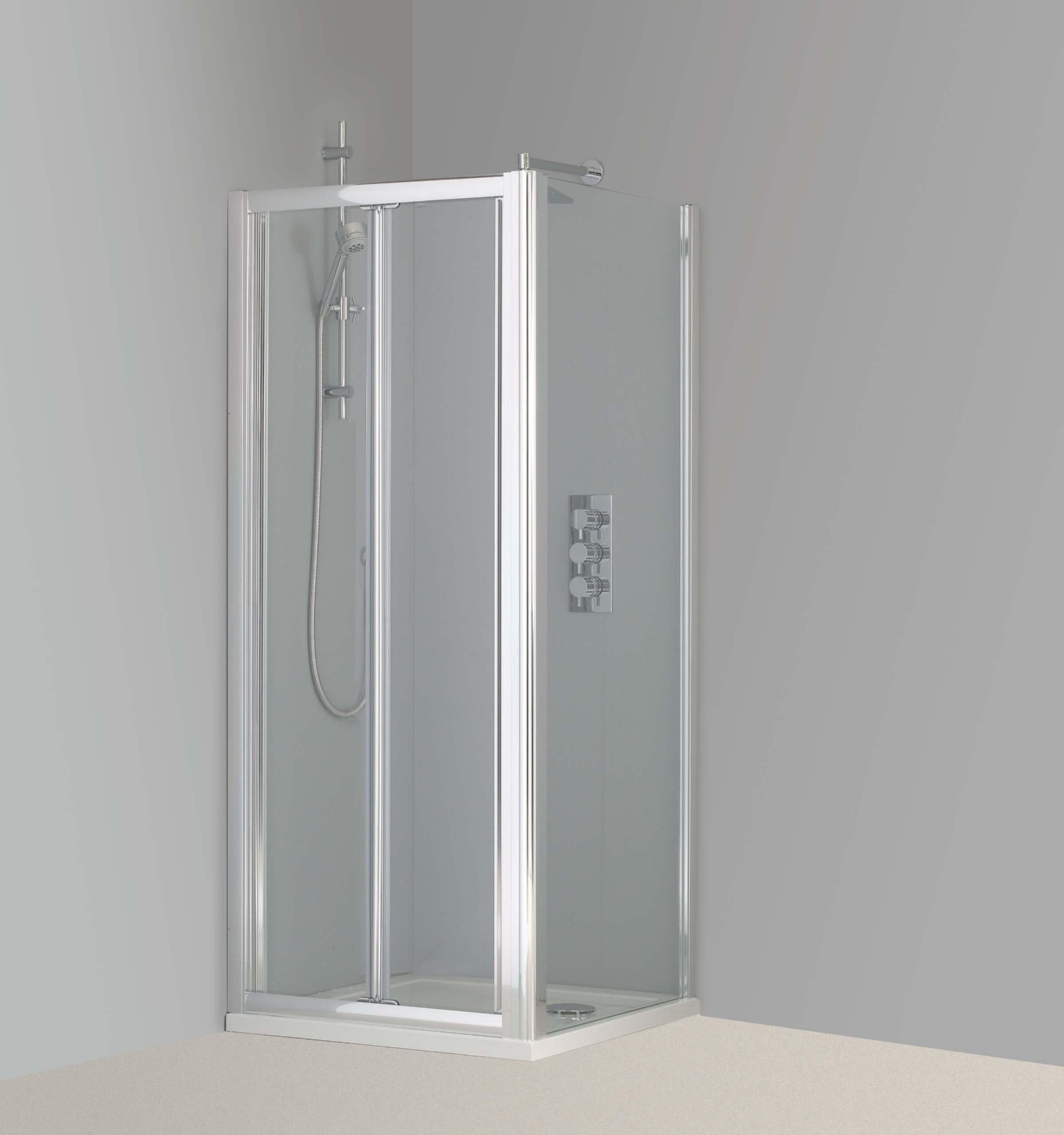 Bathroom Door Plastic Bifold Shower Doors Plastic Folding Shower ...