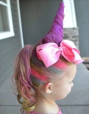 Unicornio Clown Crazy Hair Crazy Hair Days Y Wacky Hair