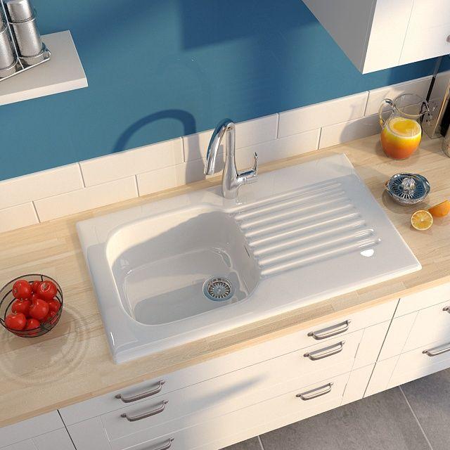 vier en gr s encastrer panama blanc castorama id es. Black Bedroom Furniture Sets. Home Design Ideas