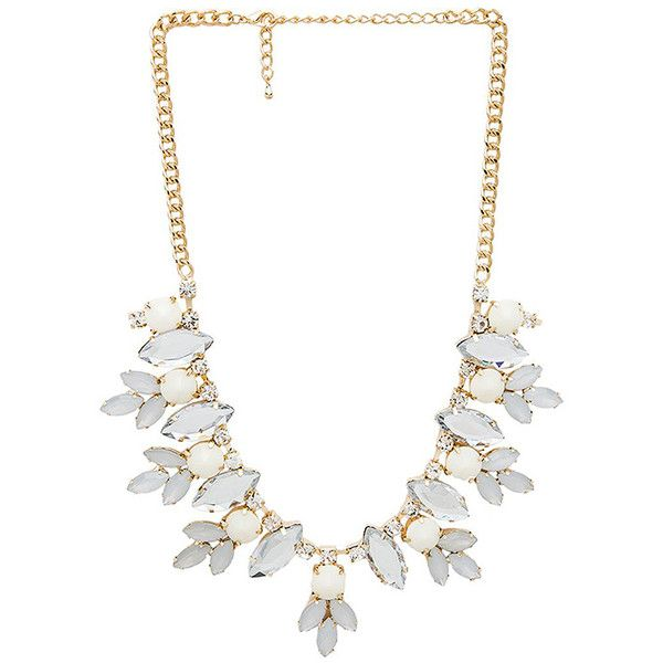 Wanderlust + Co Multi Gem Floral Necklace Accessories ($39) ❤ liked on Polyvore featuring jewelry, necklaces, floral necklace, gemstone jewelry, floral jewelry, gemstone jewellery and gold tone necklace