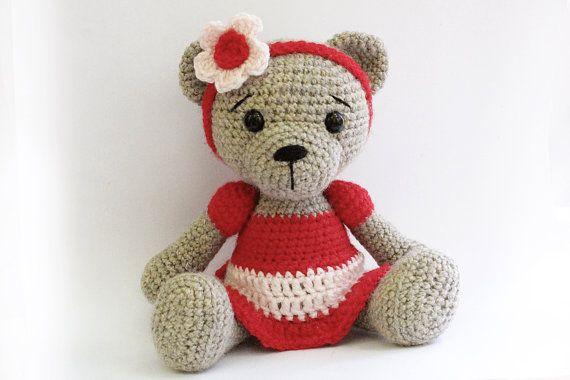 PATTERN : Bear teddy Bear Girl-Amigurumi bear von Anatillea auf Etsy ...