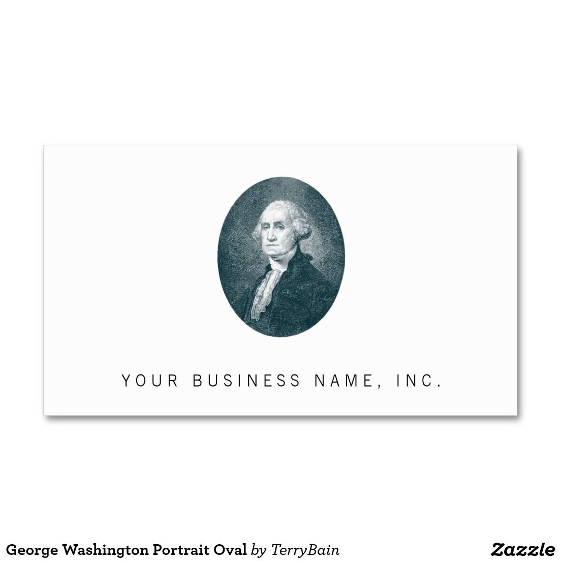 George Washington Portrait Oval Business Card Stuff Sold On Zazzle