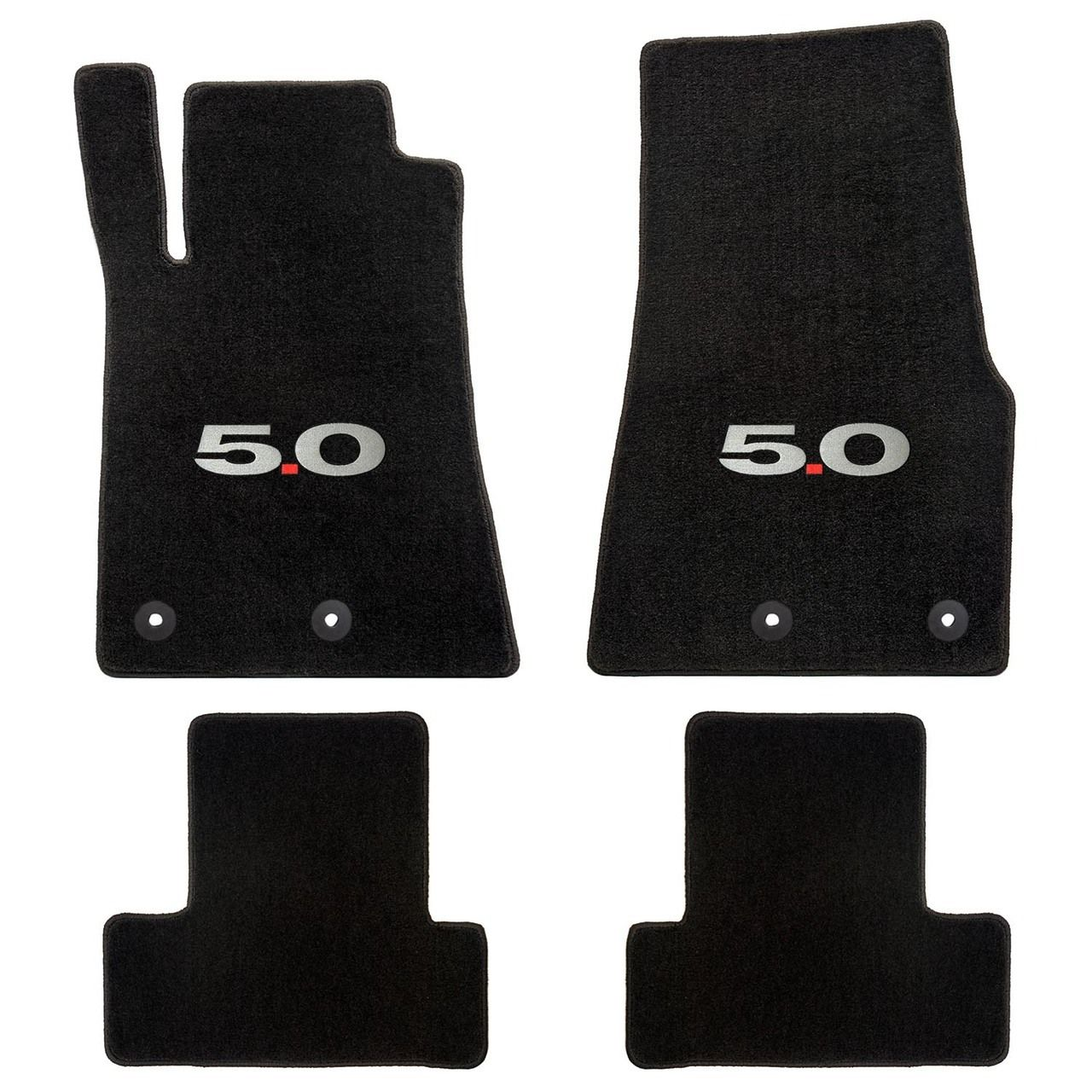 Ford Mustang 2013 2014 4pc Mats Black 5 0 Logo Heavy Plush