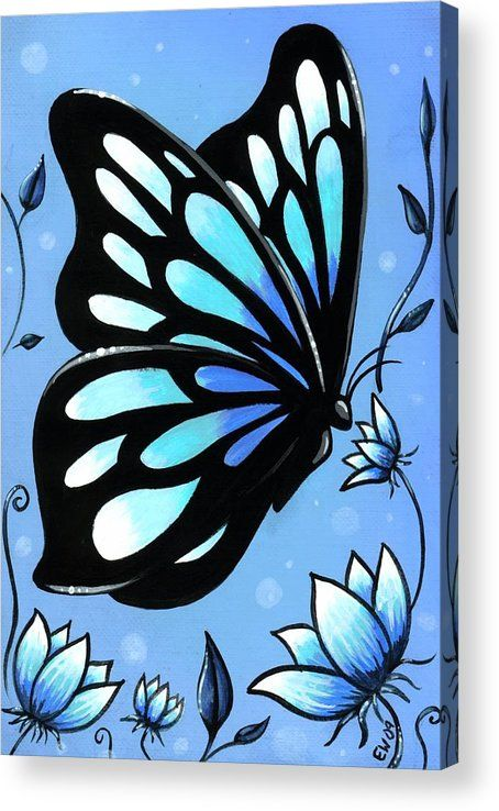 Butterflies And Flowers 11 Acrylic Print by Elaina Wagner