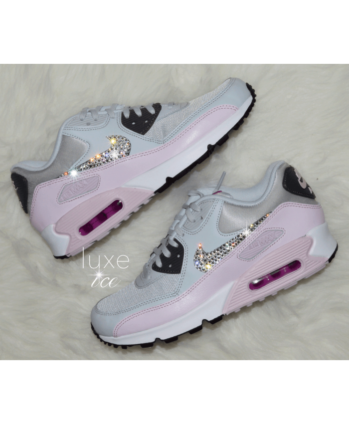 Nike Air Max 90 Crystal Candy Pink Light Grey Trainer  6d008cc6000b