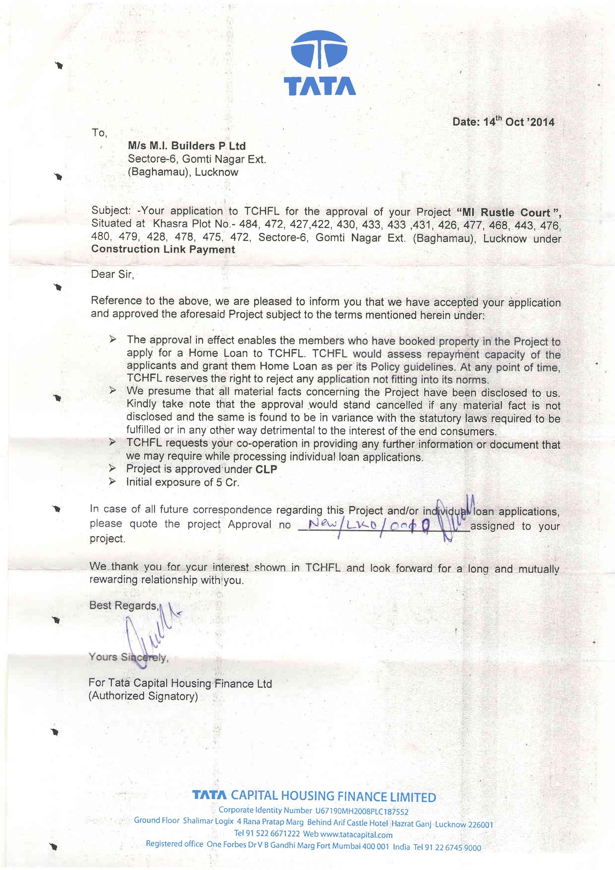 Image Result For Tata Capital Housing Letterhead
