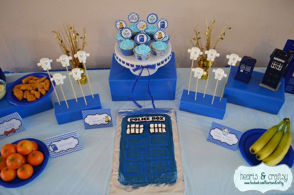 Doctor Who Birthday Party Ideas Dr Gnomey