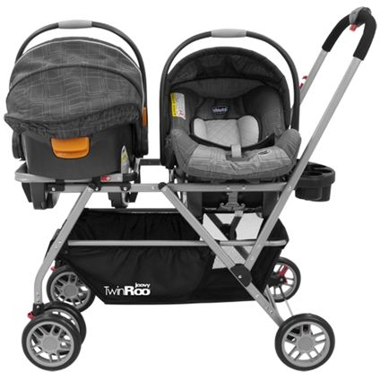 Twin Roo Infant Car Seat Frame Stroller- coolest twin stroller ive ...