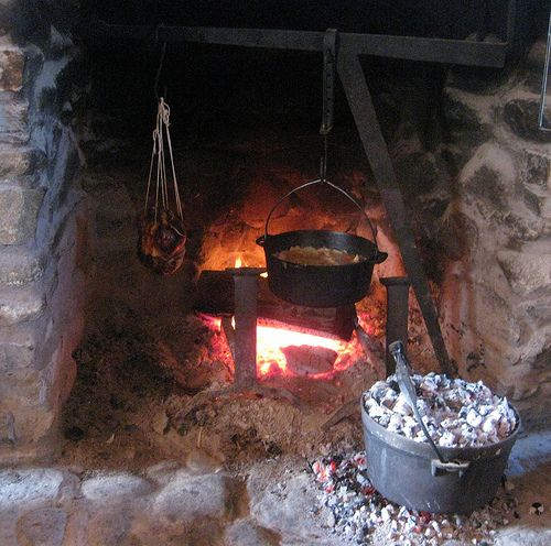 Cook in an Indoor Fireplace   Indoor, Hearths and Cast iron