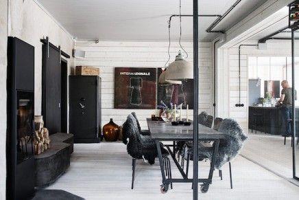 Woonblog my industrial interior: Binnenkijken in een stoer Zweeds huis...