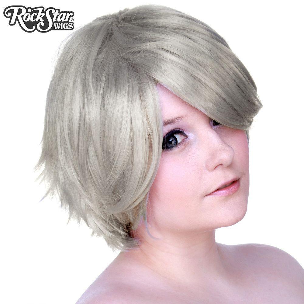 Cosplay Wigs USA Boy Cut Short  Silver   Boy cuts Cosplay