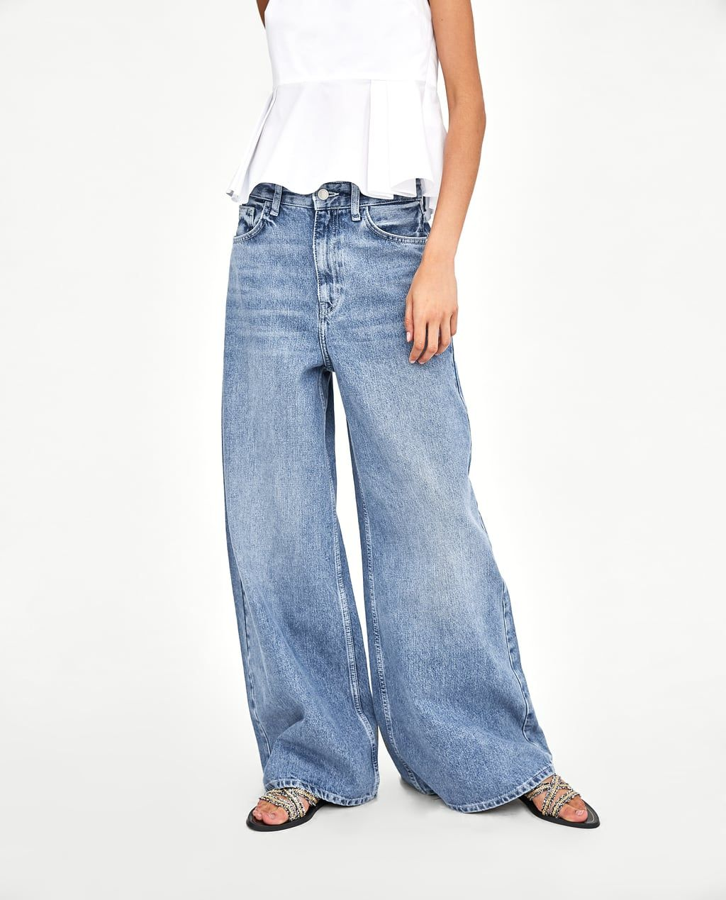 outlet a64da 69bd5 Image 3 of PALAZZO JEANS from Zara