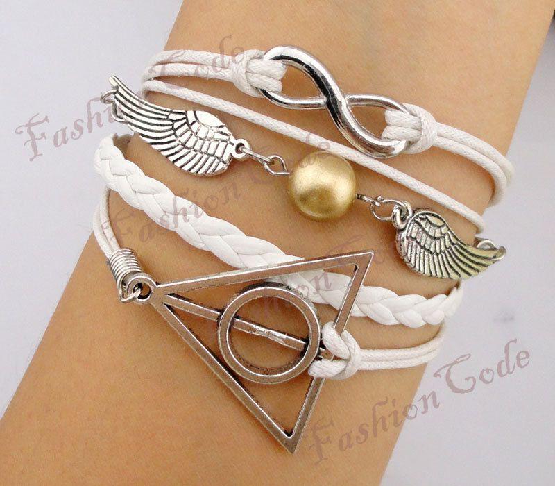 ca03367df510 Infinity, Harry Potter Snitch & Deathly Hallows Charm Bracelet ...