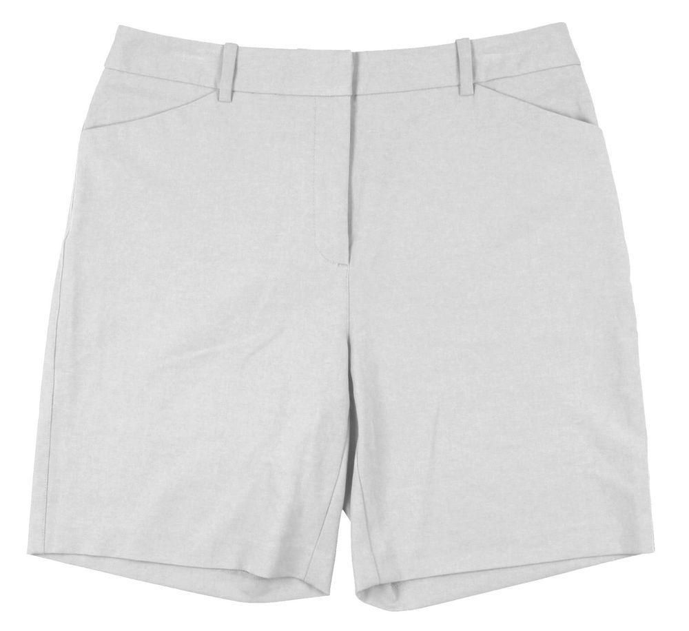 b22be54059d1 Golf Tehama Nancy Haley Flat Front Golf Shorts Sz 4 Sky Grey Resort Weight