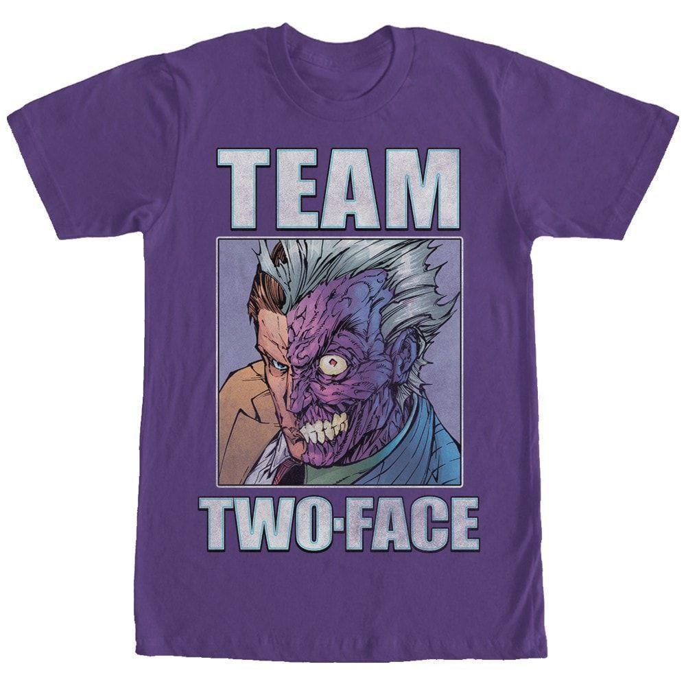 DC Comics - Team TwoFace Adult Regular Fit T-Shirt