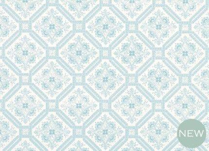 create that ornate tiled look mayhew duck egg blue patterned
