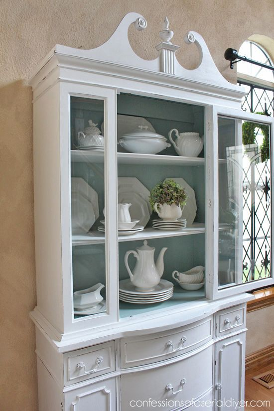 The Scoop 139 White China Cabinets Shabby Chic Kitchen China Cabinet