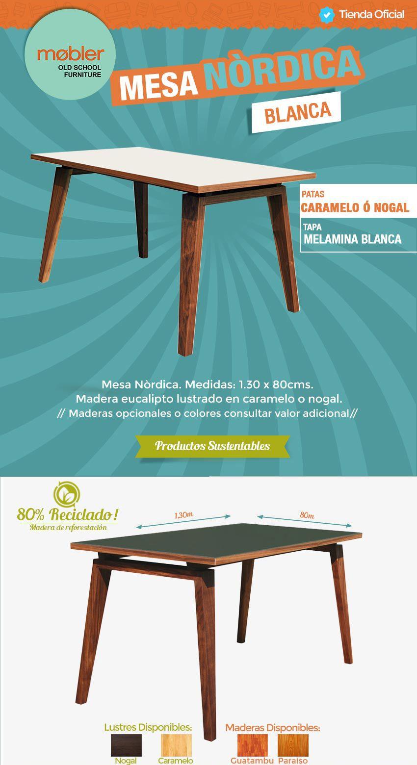 Mesa Nordica Living Comedor Eucalipto Oportunidad Mobler 2 360  # Muebles Living Mercadolibre