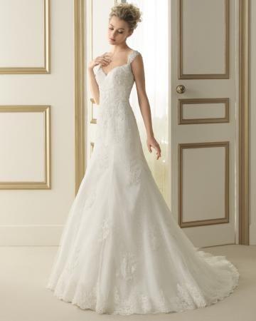Tülle 3/4 Arm Reißverschluss Vintage Brautkleider