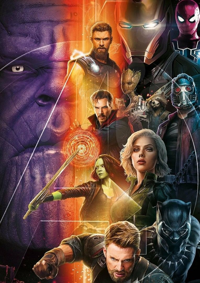 Avengers Infinity War Promo Art Thanos Captain America Black Iron Man Circuit Superhros Marvel Comics Logostore Panther Thor Widow Gamora Starlord Doctor Strange Spider