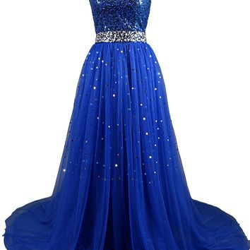 Dresstells Sweetheart Tulle Prom Dress Homecoming Dress with Sequins