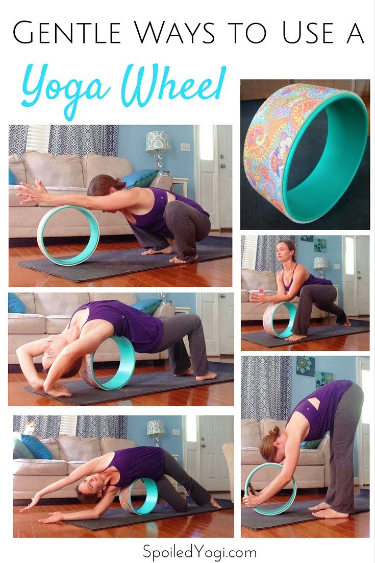 Grey Exercise Yoga Wheel Back Bend Inversion Stretch Pilates Roller