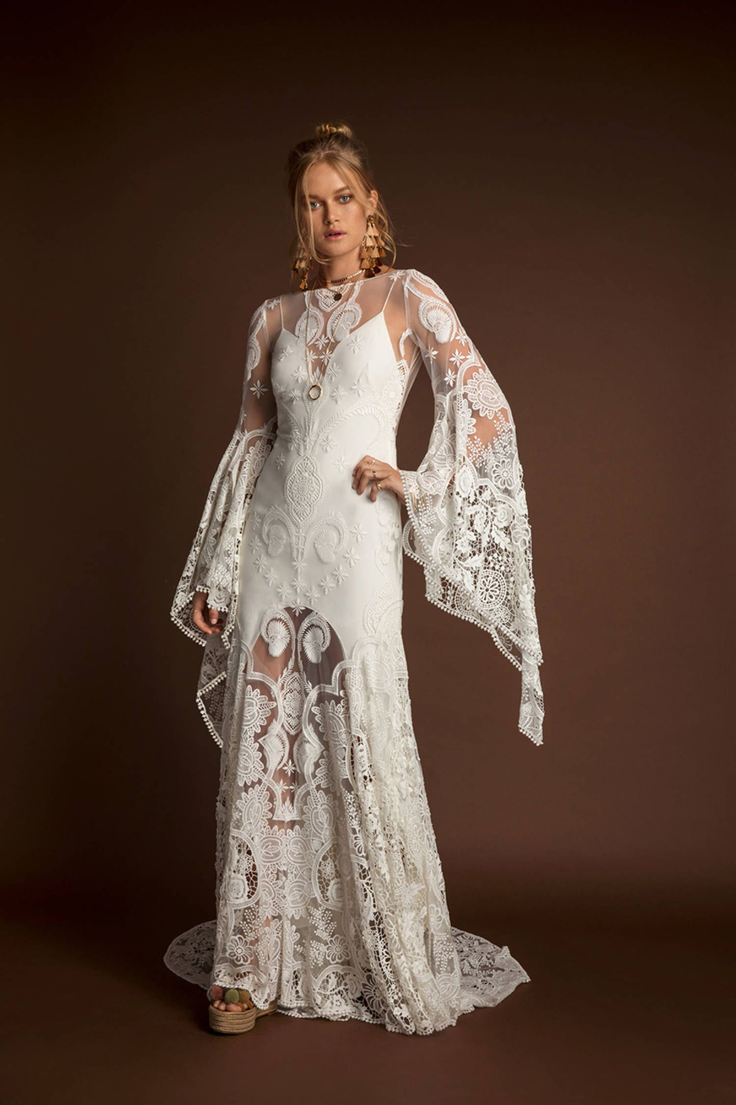 Sia Gown Wedding Dress Long Sleeve Rue De Seine Wedding Dress