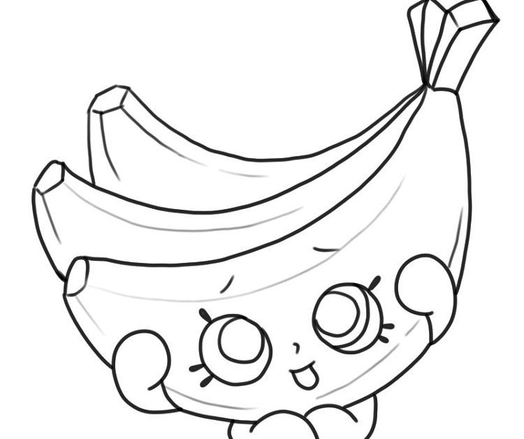 Shopkins Banana Coloring Pages Crafts