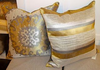 Gray And Gold Luxurious Silk Throw Pillows Silver And Gold Home