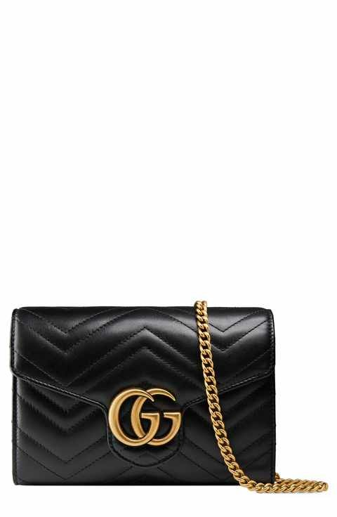 bb6e63eb8d Gucci GG Marmont Matelassé Leather Wallet on a Chain