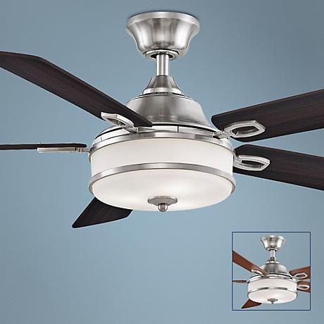 52 Fanimation Stafford Brushed Nickel Ceiling Fan 7k958 Lamps Plus Brushed Nickel Ceiling Fan Ceiling Fan Ceiling Fan With Light Brushed nickel ceiling fan with light