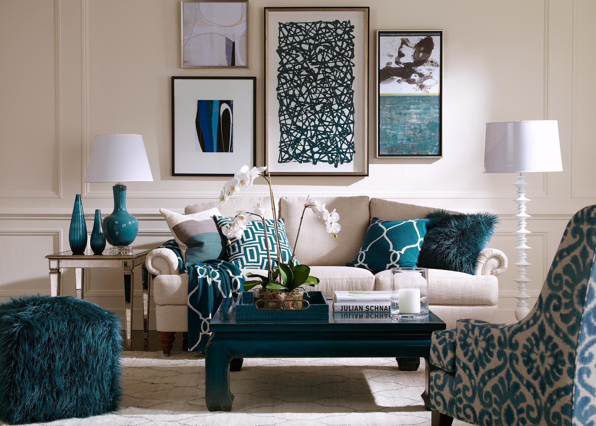 Furniture Contemporary Teal Living Room Accessories Like Curtains - Taupe living room