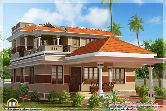 Square feet bhk kerala style home design bathroomdesignkeralastyle also rh pinterest
