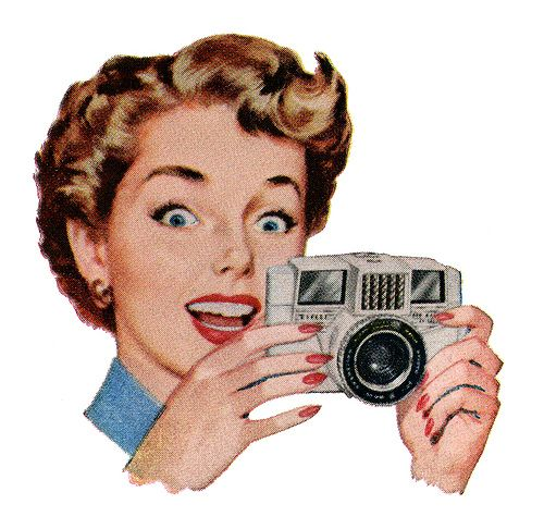 1950s Camera Advertising Illustration. Auf Theniftyfifties