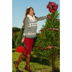Sleigh Ride With You Sweater-Heather - $39.00