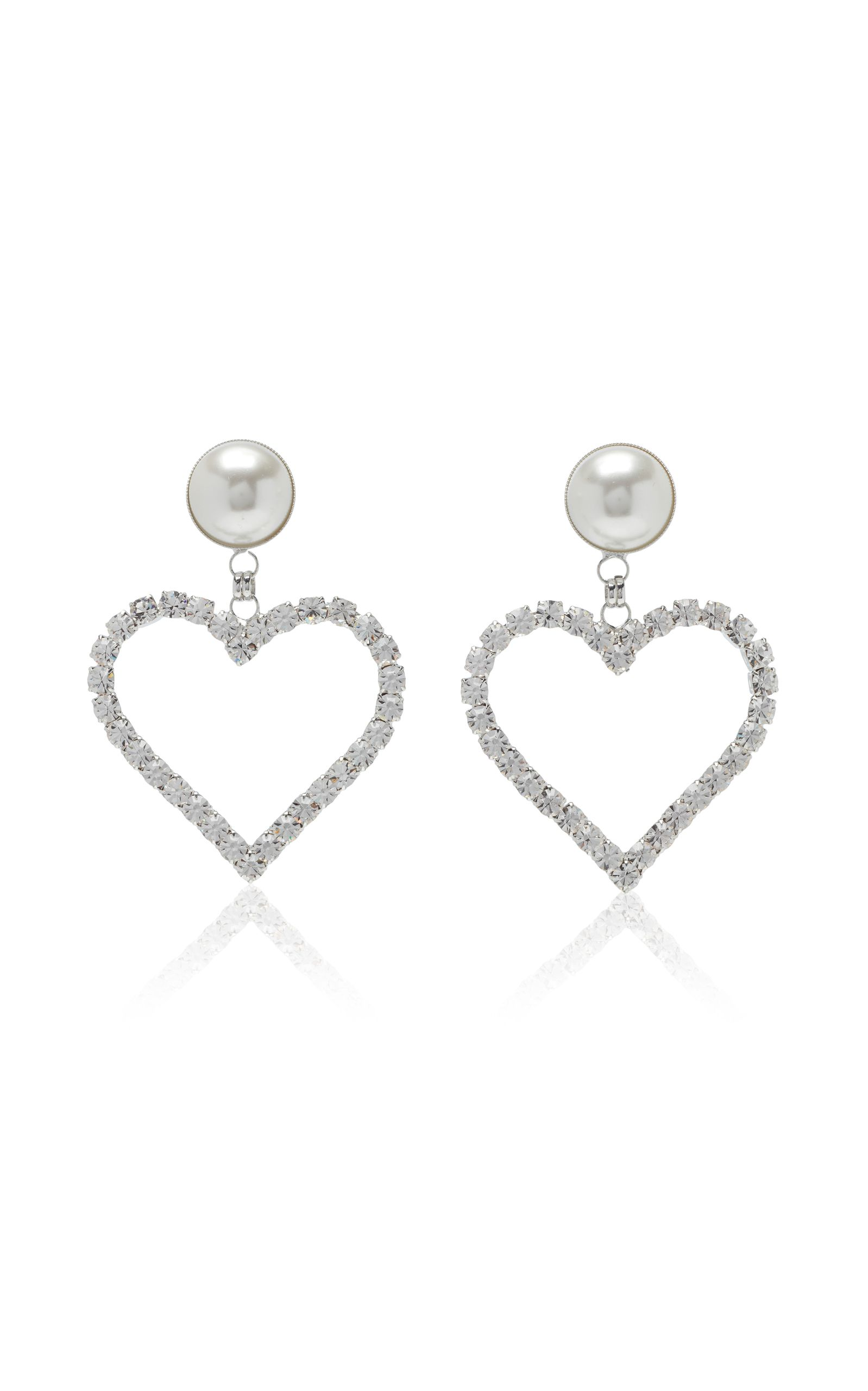 a2ff807833e0 Alessandra Rich heart earrings Pendientes De Corazón