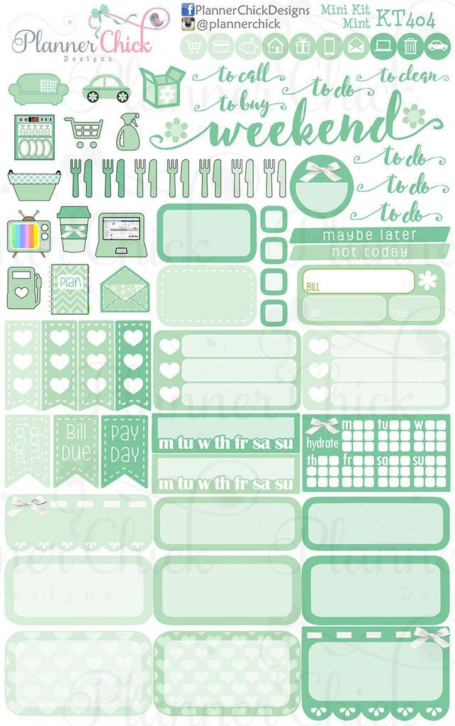 This is a picture of Hilaire Mini Happy Planner Template