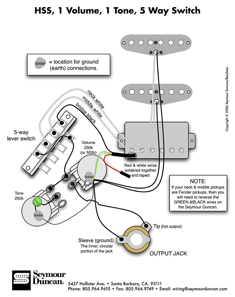 Wiring Diagrams Guitar Hss     Automanualparts Com  Wiring   With