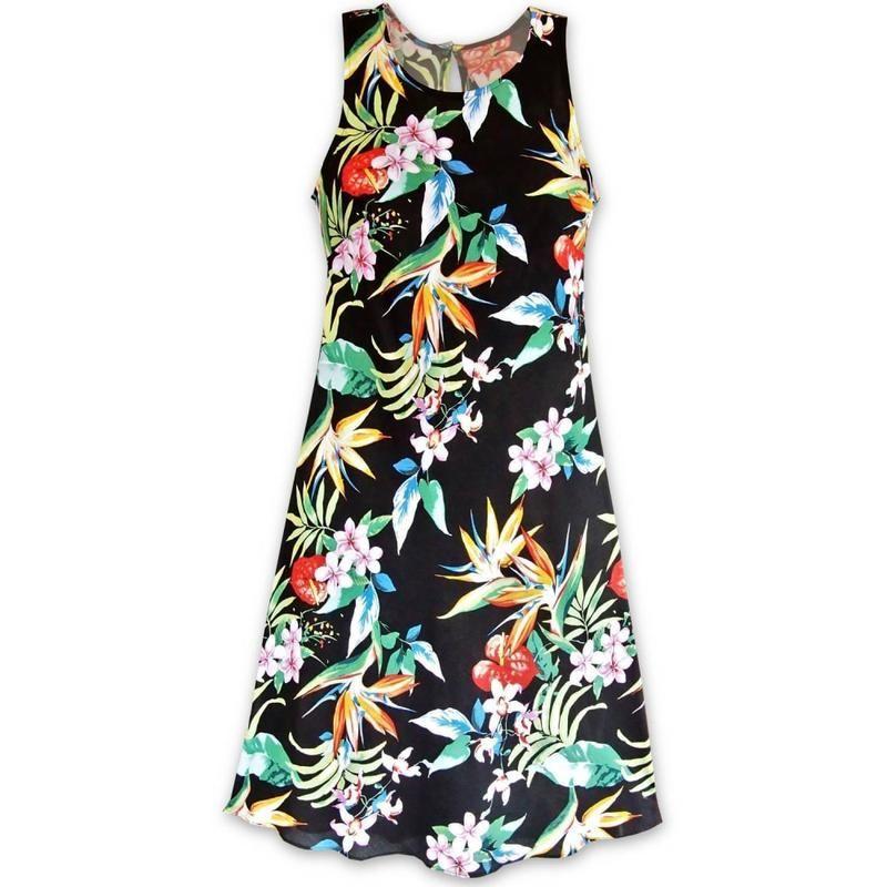 c970b514f2fe8 Jungle Black Maxi Hawaiian Dress in 2019   Judy Fashion Future ...