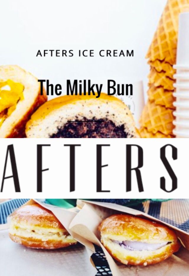 Afters Ice Cream, We Make The Milky Bun--Ice cream inside a hot donut http://www.nbcnews.com/news/asian-america/move-over-cronut-meet-milky-bun-men-who-made-it-n391041