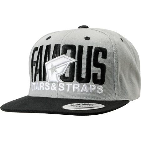 d46fbad759b FAMOUS STARS  amp  STRAPS Famous Stars And Straps Blockout Grey And Black  Snapback Hat Black