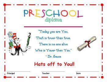 dr seuss preschool diploma 1 kids preschool preschool