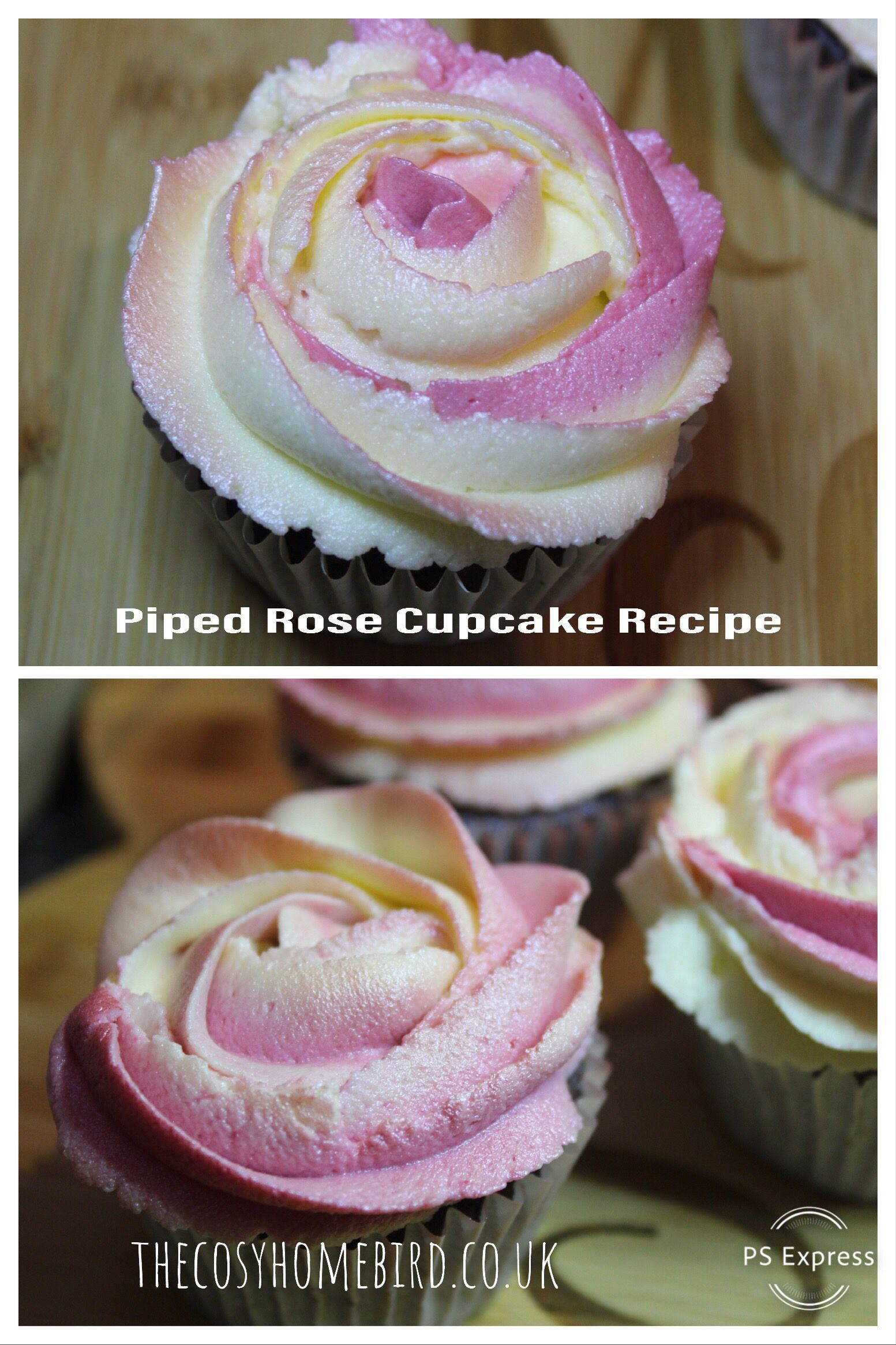 Piping rose, piping technique, homemade cupcakes, cake ...