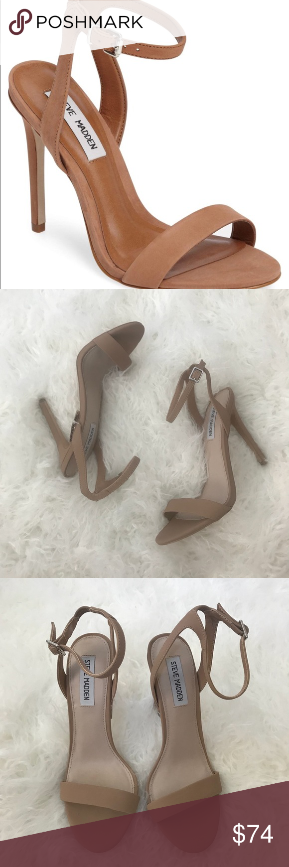 5cfd4b8edc1 Steve Madden 'Scene' Nude High Heel Sandals Sz 8.5 Brand new without ...