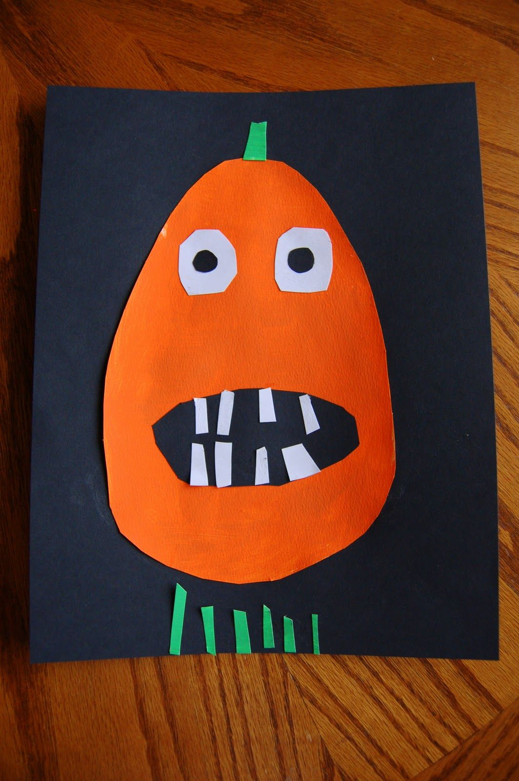 Goofy Pumpkin Paint Cut Paste Activity To Go With The Ugly