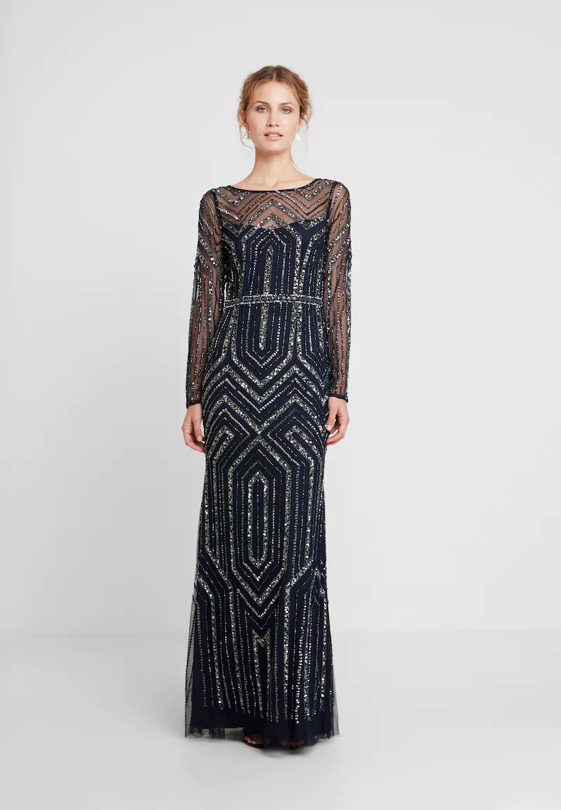 geo beaded long dress - ballkleid - midnight @ zalando.de