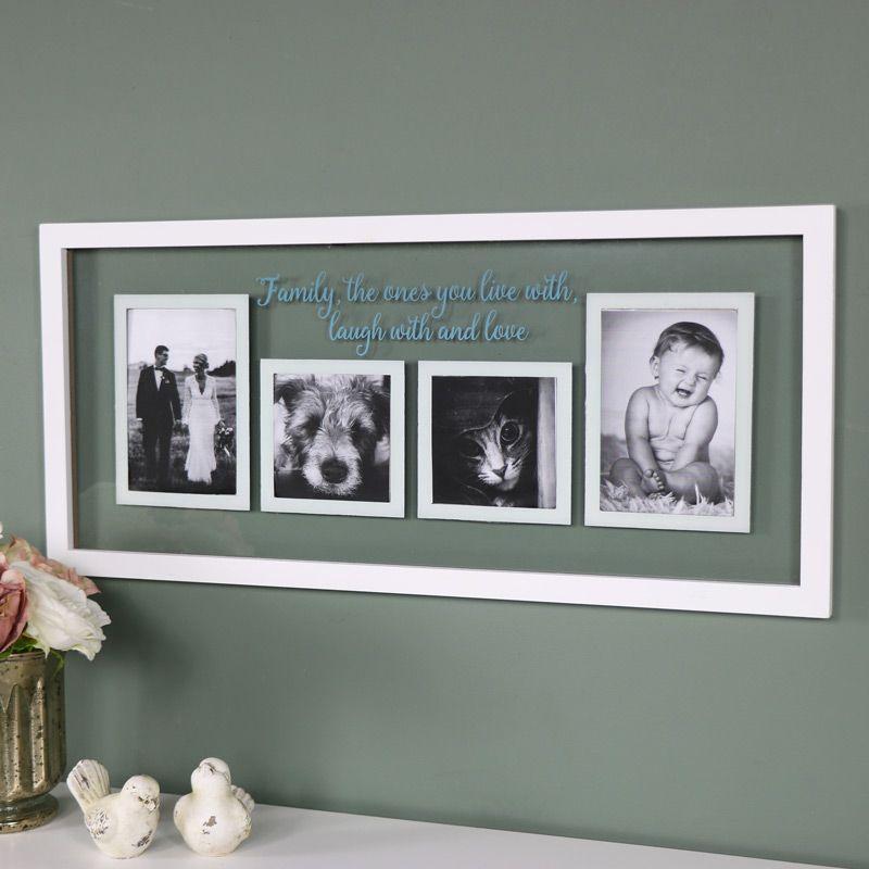 Family Wall Mounted Glass Photograph Frame Wallart Vintage Decor Homedecor Decorideas Home Interi Parede De Fotos Reaproveitamento De Moveis