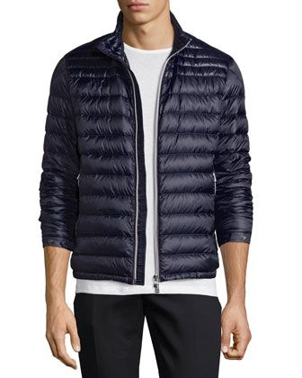 Daniel Quilted Puffer Jacket, Navy by Moncler at Bergdorf Goodman.