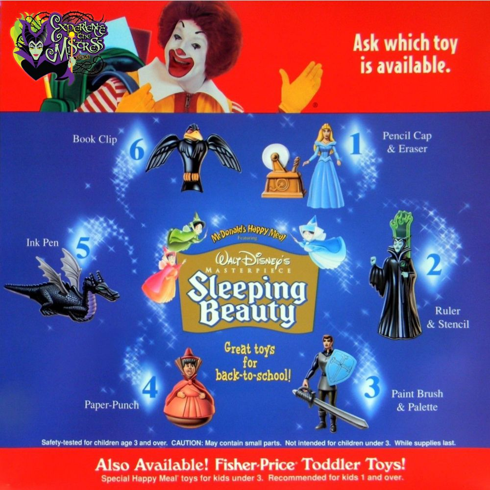 Toys From Mcdonald S Happy Meals : Sleeping beauty mcdonald s happy meal toys