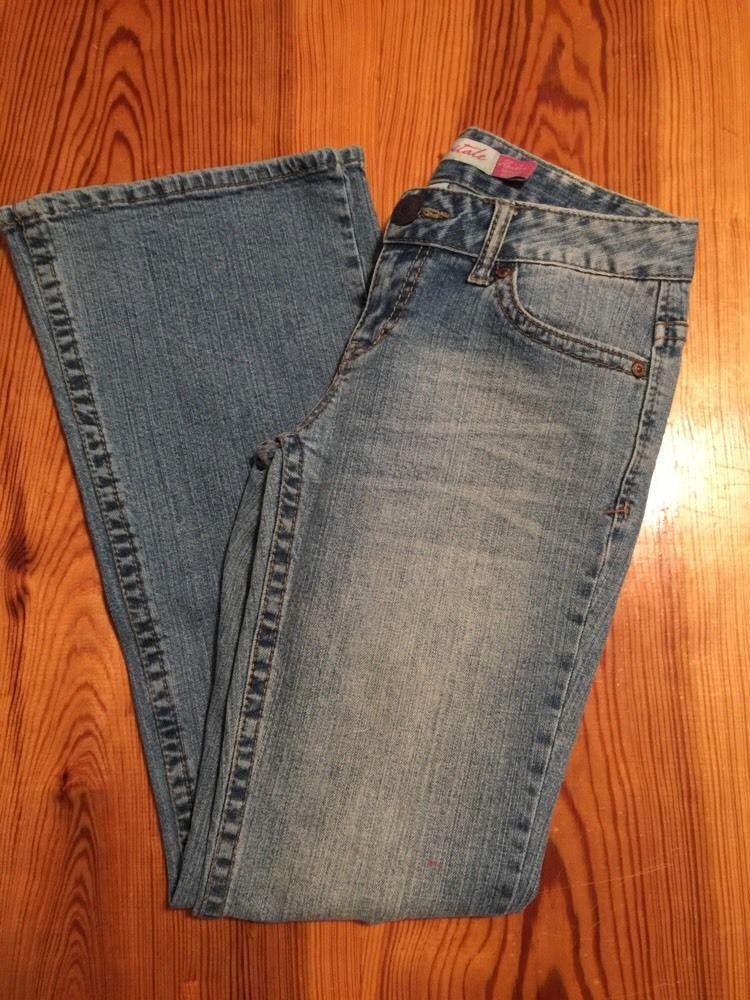 $4.99 Womens AEROPOSTALE Denim Jeans Kailey Skinny Flare size 1 / size 2 SHORT #Aropostale #SlimSkinny